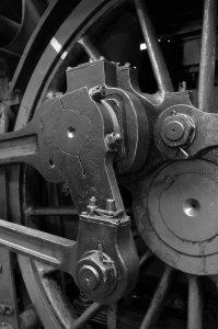 Nahaufnahme Eisenbahnrad