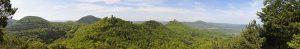 Panoramaansicht über den Pfälzer Wald