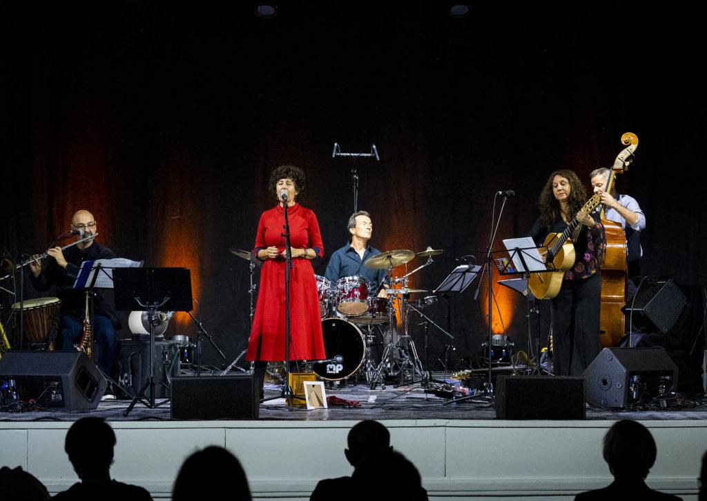 Jutta Glaser und Band beim Festakt zur Sanierung des Alten Stadtsaals Speyer