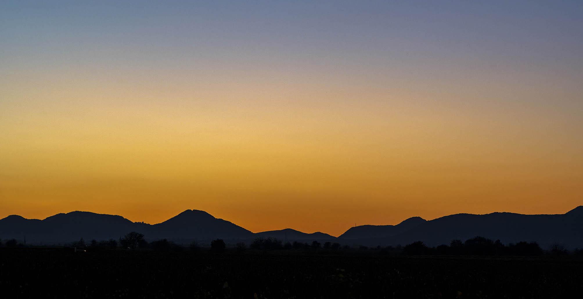 Sonnenuntergang an der Haardt