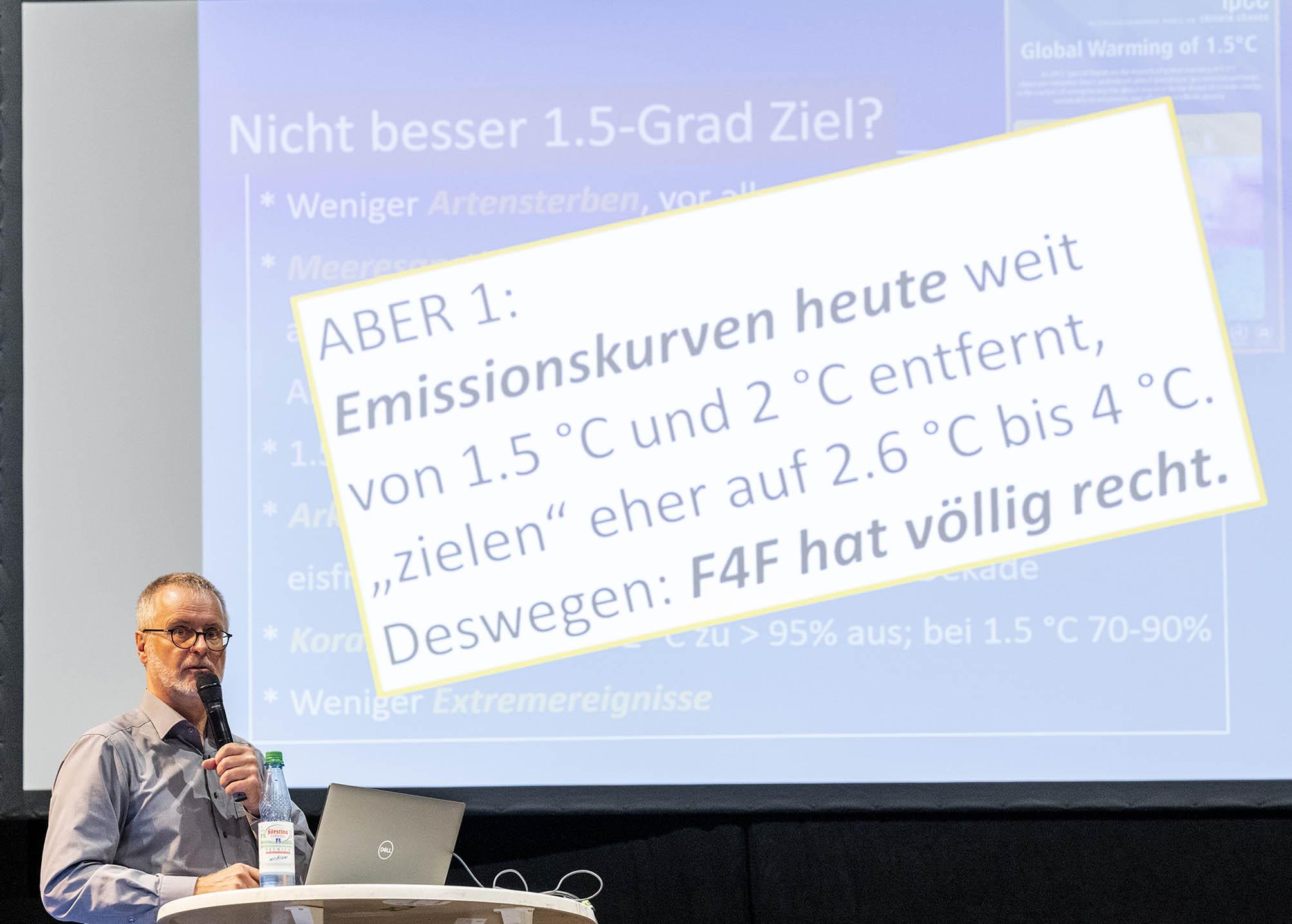 Prof. Dr. Stephan Borrmann referiert über Klimaerwärmung